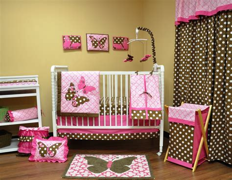 Pink And Brown Polka Dot Crib Bedding by Pink Polka Dot Nursery Bedding Space Saving Loft Beds 3