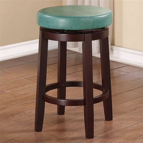 Linon Bar Stool Teal by Linon 24 Quot Swivel Counter Stool In Teal 98352tea 01 Kd