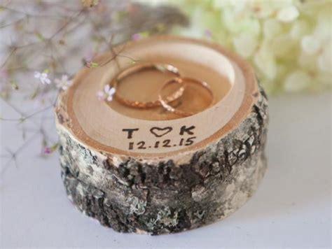 ring bearer pillow peronalized rustic wedding ring holder rustic ring box wedding decoration