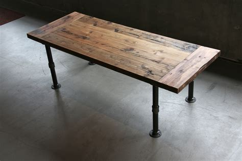 table pipe legs industrial harvest tables west coast