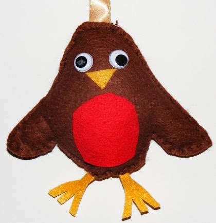 Felt Robin Softie Christmas Craft For Kids Felt Robin Decoration Template