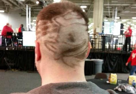 haircuts dallas oregon oregon fans show off their creative hairstyles at playoff