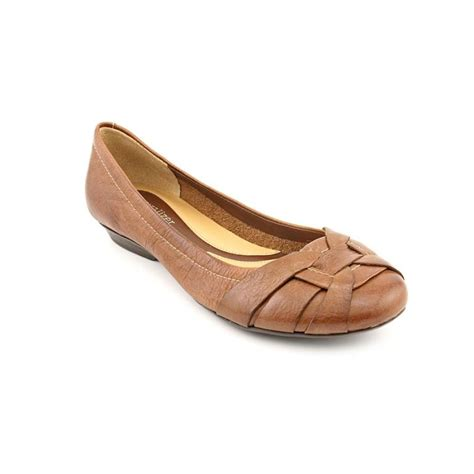 womens brown flats shoes naturalizer naturalizer maude leather brown flats flats