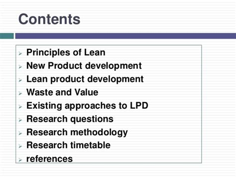 Mba New Product Development Projects by Pecha Kucha Project Lean Product Development
