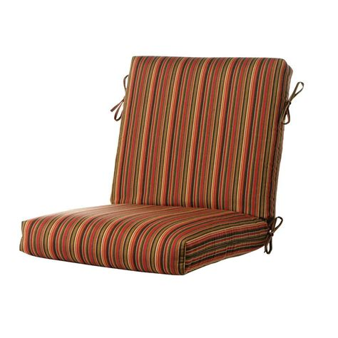 home decorators outdoor cushions home decorators collection sunbrella dorsett cherry outdoor dining chair cushion 1573120120