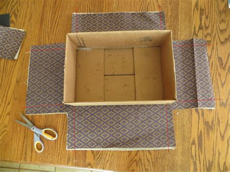 How To Make A Box Out Of Wrapping Paper - namely original how to cover a box in fabric