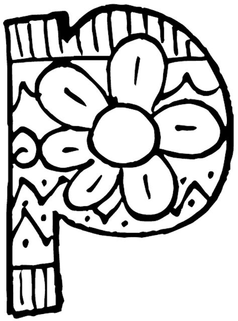 P Coloring Pages by Related Pictures Letter P Coloring Page Letters