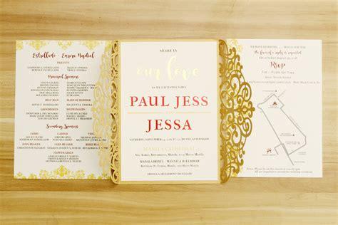 Wedding Invitation Design Philippines by Invitation Maker Ph Gallery Invitation Sle And