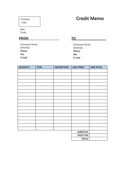 credit memo template   create edit fill