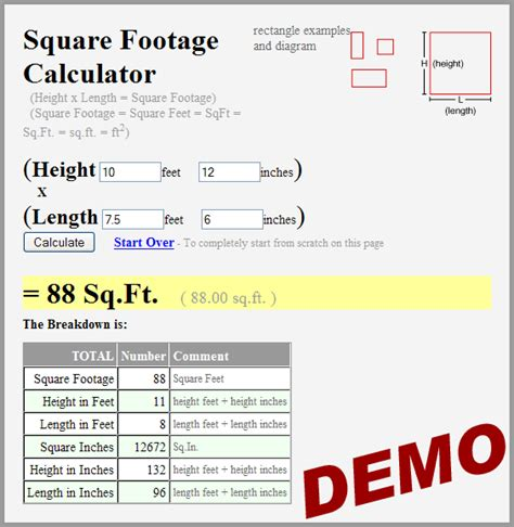 square footage home square footage org