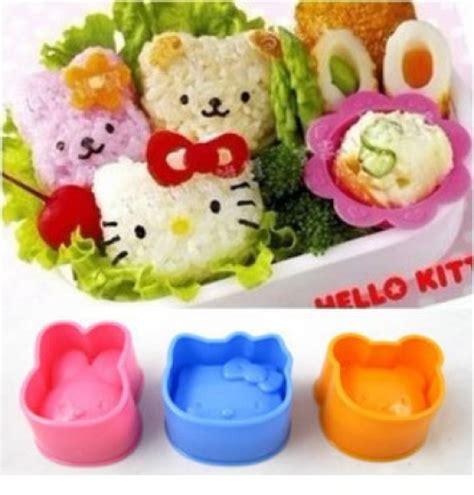 cetakan nasi telur kity bento beruang dan kelinci h promo barangunik co detil produk set cetakan bento