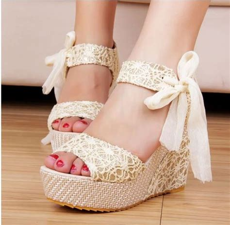 Kode Dress Wedges Ribbon wedding shoe drama help weddingbee