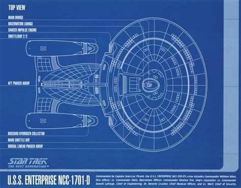 blue prints star trek blueprint collection a portfolio set of 8