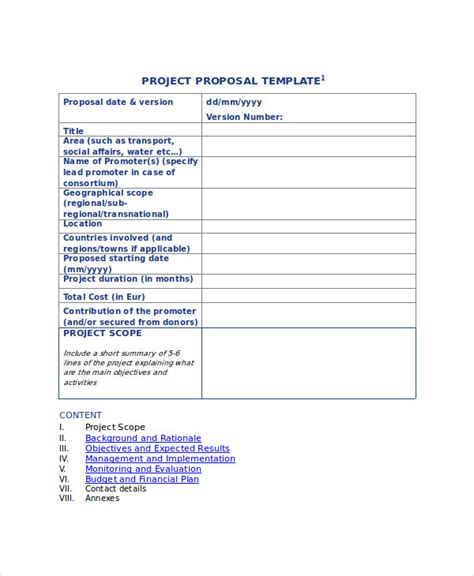 format of proposal for project 44 project proposal exles pdf word