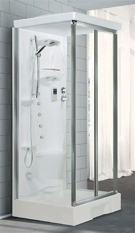All In One Corner Shower Unit Novellini New Mid Wall Shower Pod 1000mm X 800mm