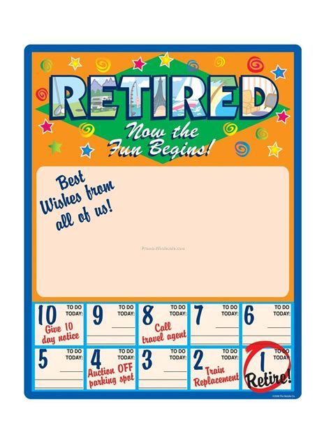printable retirement poster search results for free retirement countdown calendar