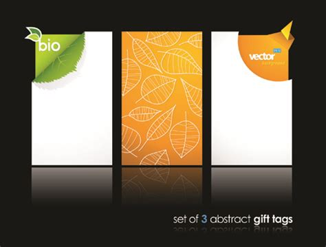 Gift Name Card Design - abstract gift tags cards design vector graphic 05 vector card free download