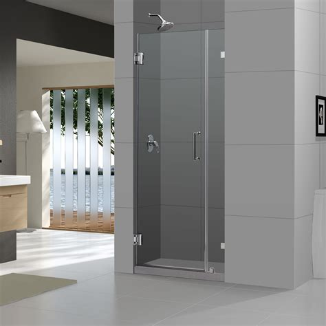48 Pivot Shower Door Dreamline Unidoor 72 Quot X 48 Quot Pivot Frameless Hinged Shower Door Reviews Wayfair