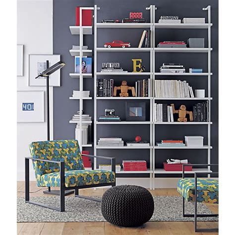 stairway white 96 wall mounted bookcase stairway white wall mounted bookcase cb2 stairway