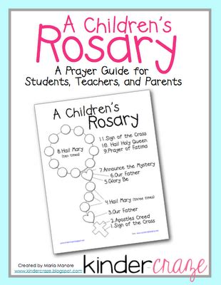 printable rosary instructions free download how to pray the rosary for children