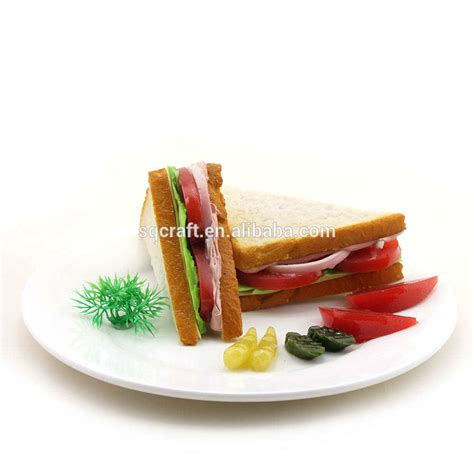 handmade faux tuna sandwich food set meal sandwich