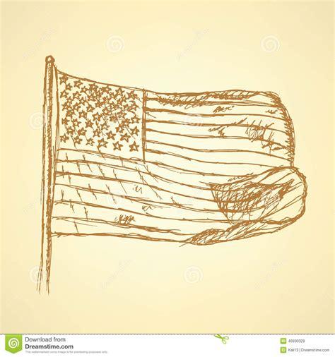 sketchbook usa sketch flag of usa vector background stock vector image