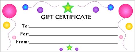 doc 700270 blank gift certificate template for free