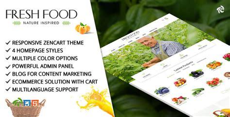 themeforest organic food fresh food zencart template for organic food fruit