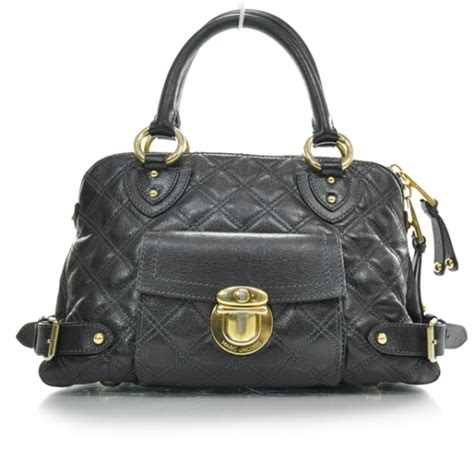 Marc Quilted Elise by Marc Leather Quilted Elise Tote Black