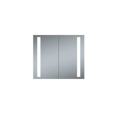 led recessed medicine cabinet innoci usa double door melania 30 in x 26 in led