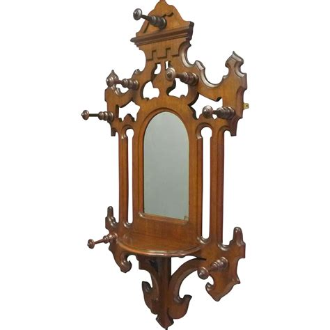 Mirror And Coat Rack by Mirror With Hat And Coat Rack From