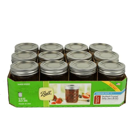 8 Oz Quilted Jars 12 8 oz qulted jelly jars with lids bands
