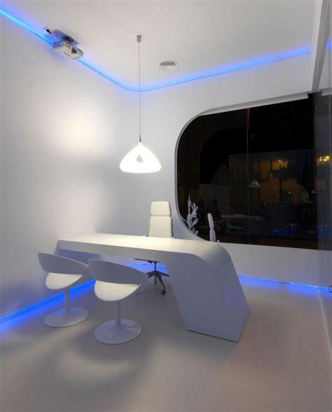 luces oficina oficina futurista con luces led oficina futurista