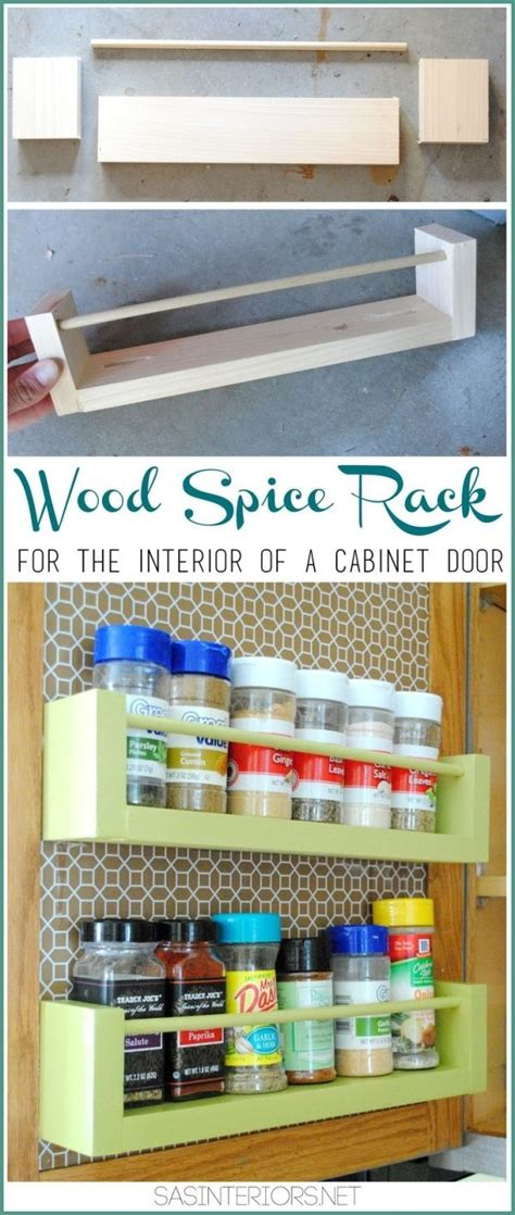 Free Diy Furniture Project Plan Learn How To Build A Cabinet Door Spice Rack Plans