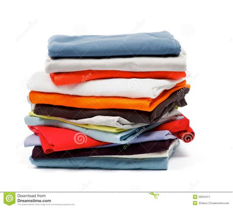 color stack stack of color clothes stock image image 26034411
