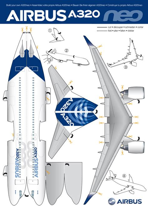 Cut Out And Make Paper Models - cut and make your own airbus a320neo in paper bangalore