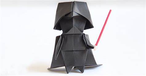 Tadashi Mori Origami - darth vader a step by step origami tutorial