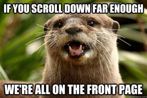I Made Dis Meme - optimistic otter thank you res meme guy