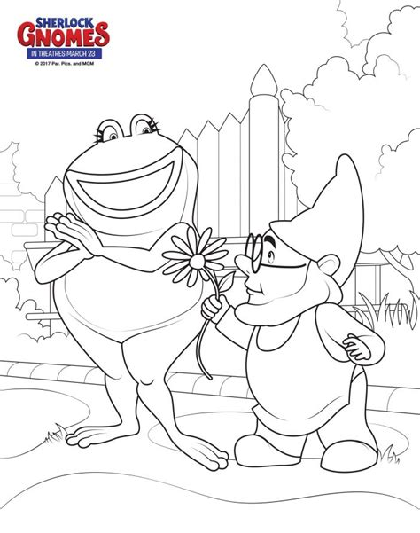 gnome coloring pages free printable coloring sheets from sherlock gnomes