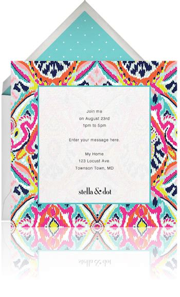 stella and dot invitation templates stella and dot signup paperless post
