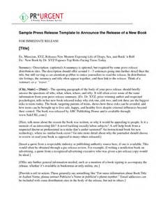 book press release template 10 best images of fiction press release sle book book