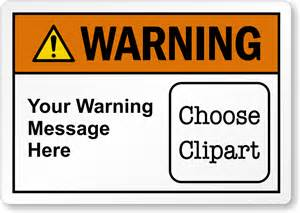 customizable text ansi warning label choose clipart sku