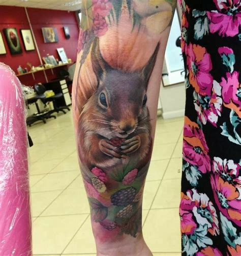 squirrel tattoos 38 best images about mommies sleeve on floral