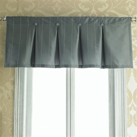 Curtain Box Valance Inverted Box Pleat Button Valance Interiors Window