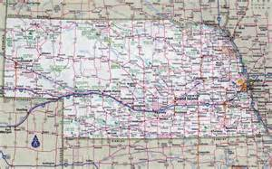 large detailed roads and highways map of nebraska state