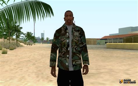 Game Mod Jacket | camouflage jacket for gta san andreas