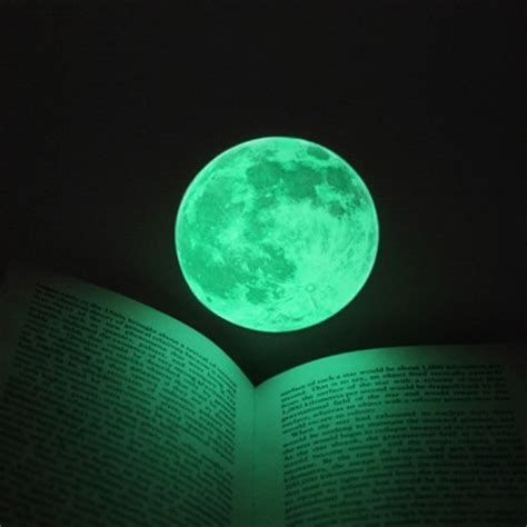 glow in the moon wall sticker small clair de lune glow in the moonlight sticker