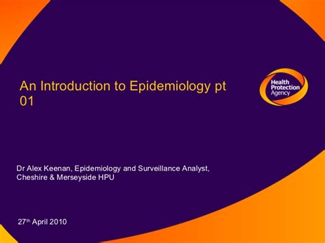 introduction to epidemiology introduction to epidemiology and surveillance