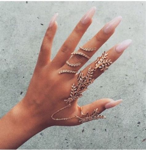 and this accessory found in ring left index finger and comes with full finger linked statement ring double finger ring