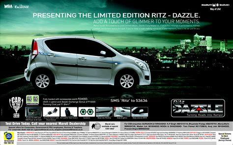 Suzuki Advertisement Print Ads Maruti Suzuki Ritz Dazzle Limited Edition